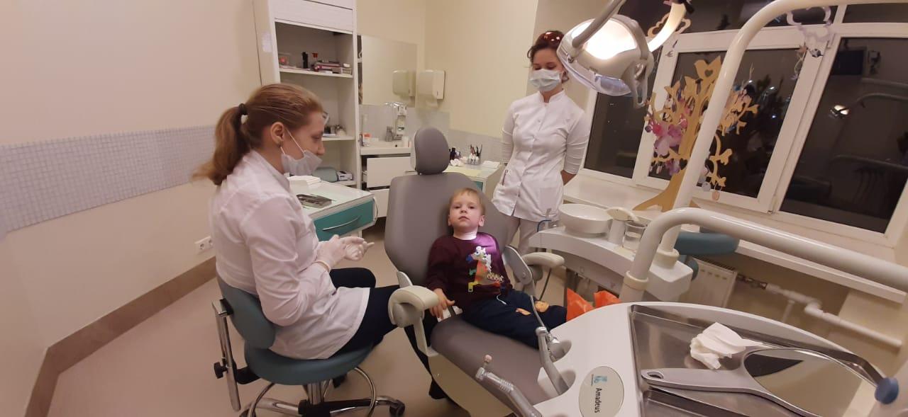 детский прием у стоматолога